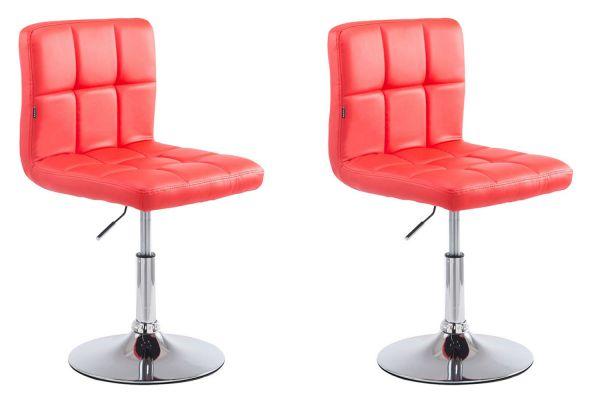 2er Set Lounger Palma V2 Kunstleder rot