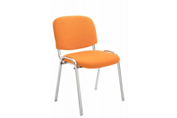 Besucherstuhl Ken C Stoff orange